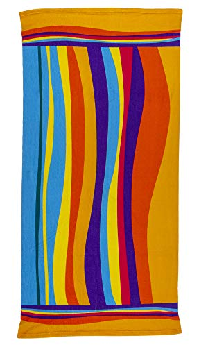 Augustine Microfiber Beach Towels - Soft Terry Quick Dry Towel for Swimming, Travel, Sunbathing and Lounging by The Pool, Extra Large 28 by 59 Inches (Marimba)