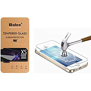 Balee iphone 5s Screen Protector,Ultra Thin Anti-Scratch Tempered Glass Screen Protector for iPhone 5S, 5, 5c,SE