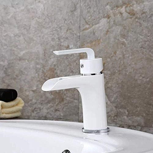 Gulakey ヨーロッパのクラシック・ホワイト流域単穴銅ははんだ浴室の蛇口防錆塗料