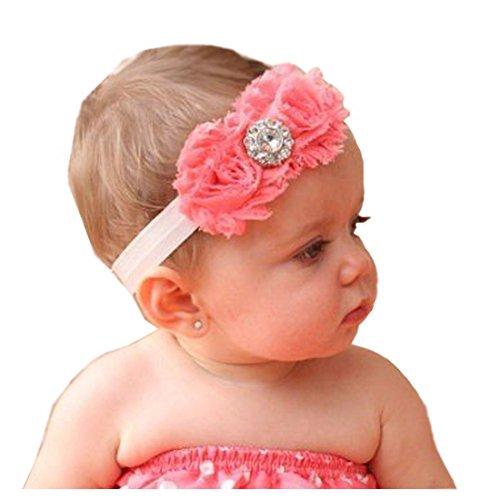 JISTL Lovely Ovely Unusal Cotton Girls Baby Two Red Roses Diamond Hairband Headband