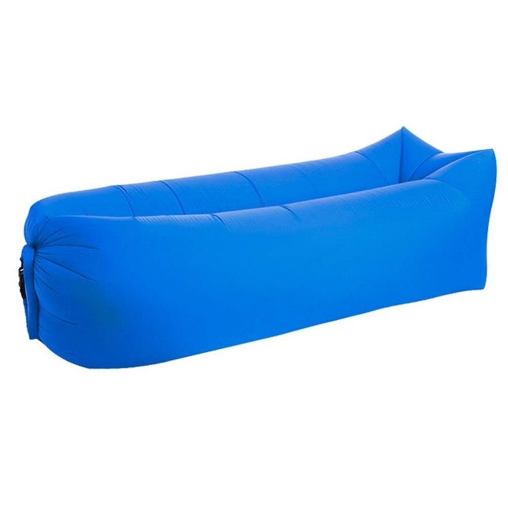Peninsula Iron Box Camping mat Lazy Bag Lazy Outdoor Camping Lazy Couch Beach Picnic mat Inflatable Sofa Bed Bean Bag air Sofa Leisure Cushion sdaijeuh787 (Color : Blue) by Peninsula Iron Box