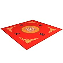 Universal Mahjong / Paigow / Card / Game Table Cover - Red Mat 31.5 x 31.5 (80cm x 80cm)