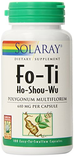 610 Mg Capsules - Solaray Fo-Ti Capsules, 610 mg, 100 Count