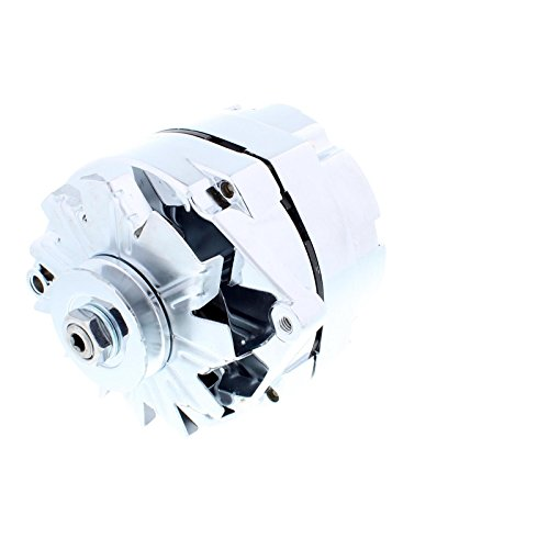 Chrome GM 1-Wire Alternator, 60 Amp, Internally Regulated