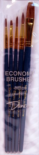 Duncan Ceramics 5 Piece Economy Ceramic Brush Set BB109 ()
