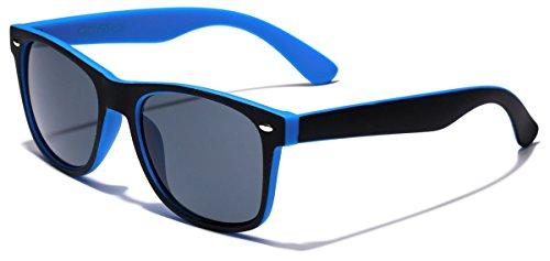 Classic Retro Fashion 2 Tone Sunglasses - Black & - Cheap Sunglasses Blue