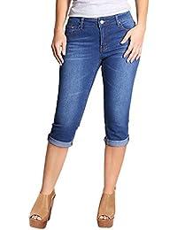 Women's Stretchy 5 Pocket Skinny Capri Jeans