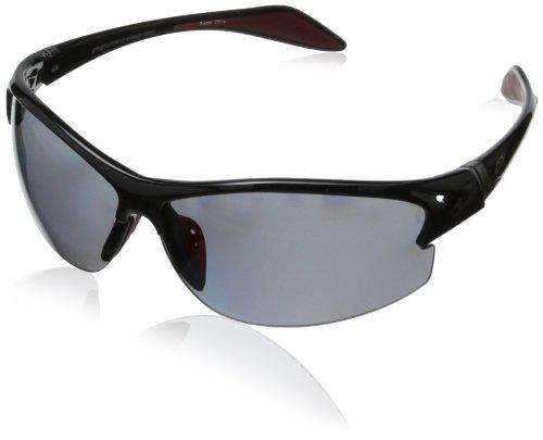 Greg Norman G4605 Polarized Sport Semi Rimless Melanin Sunglasses,Black, 78 ()