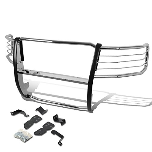 For Chevy Silverado 1500 Front Bumper Protector Brush Grille Guard (Chrome)