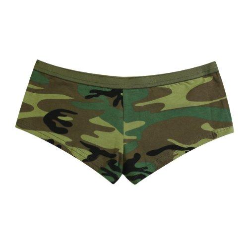 - Rothco Women's Booty Shorts, Woodland Camo, Small
