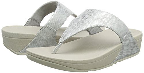 Thong Sandali Print 578 Donna Aperta Toe shimmer Lulu Shimmer print Sandals silver Punta Fitflop Argento qxYpZEwn