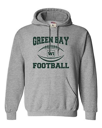 Small Oxford Adult Green Bay Football Sweatshirt Hoodie