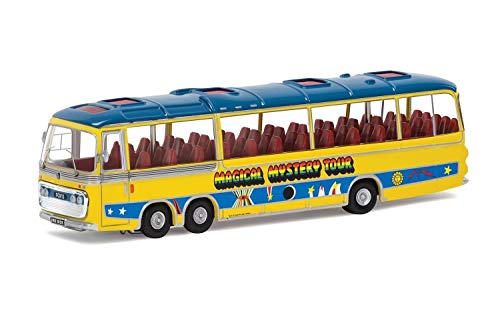 (Corgi CC42418 The Beatles Magical Mystery Tour Bus 1:76 Scale Die-Cast Model, Yellow/Blue )