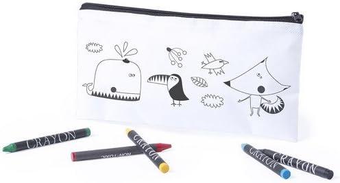 DISOK Estuche para Colorear Infantil con 5 Pinturas Ceras Incluidas - Estuches para Colorear Niños Infantiles Manualidades con Pinturas para Pintar Cumpleaños, Fiestas de Colegios: Amazon.es: Juguetes y juegos