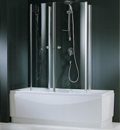 Novel Lini aurora 4 cabina de ducha para bañera, transparente ...