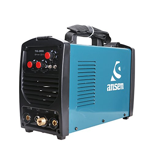 Ansen Portable IGBT Inverter Welder 115V/230V Dual Voltage TIG&STICK DC Welding Machine (180AMP) (TIG-205S-200)