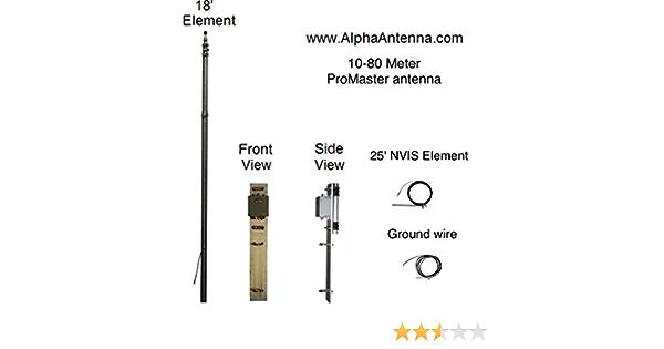 Sintonizador libre 10 – 80 Meter 500 W Promaster HF Antena