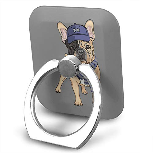 C-Emily French Bulldog Phone Ring Stand Holder 360 Degree Rotation Cell Phone Finger Stand Car Mount for Almost All Phones and Cases]()