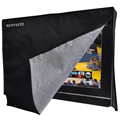 ROPALIA Outdoor TV Waterproof Cover with Transparent Film Scratch-Resistant Standard mounts and Brackets