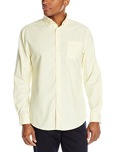 - Lee Uniforms Men's Long Sleeve Oxford Shirt, Yellow, Small