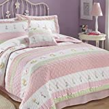 Tara Stripe Twin Quilt with Pillow Sham