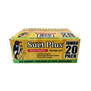 #LightningDeal ST. ALBANS BAY SUET PLUS High Energy Suet Cakes, 20 Pack of 11 oz. Suet Cakes for Wild Birds