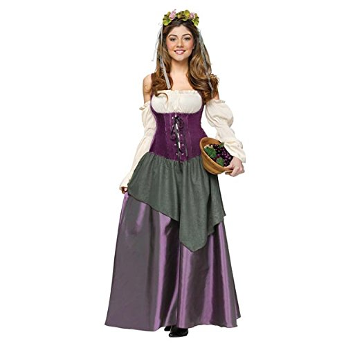 Tavern Maiden Womens Costume (Fun World Women's Tavern Wench Costume, Multi, Medium)