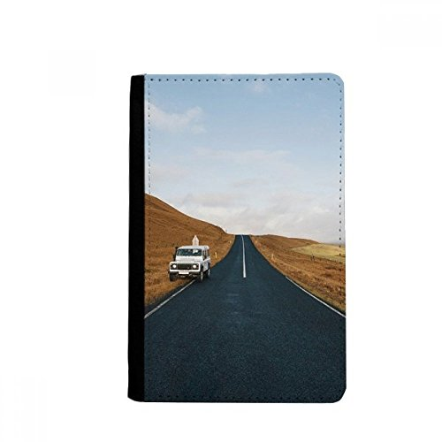 Autumn Car Country Road Travel Sky Grass Passpord Holder Travel Wallet Cover Case Card Purse Gifts