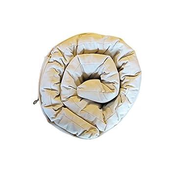 Europe & Nature–Materasso Futon–Campeggio Firm cotone bianco, Cotone, bianco, 190x70x6 cm E&N ENCAMPFUTON70190