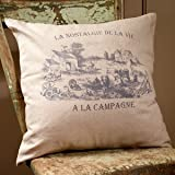 Homestead French Market Oversized Cotton Throw Pillow Cover 18 x 18 Inches