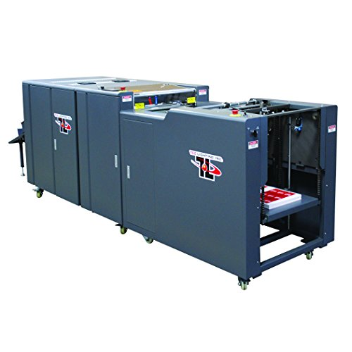 TRUCOAT (TRUVF-21FD) Offline UV Flood coater with Deep-Pile vacuum feeder, Includes UV coating tower, 3-lamp IR and UV system, up to 4,000 sheets/hour
