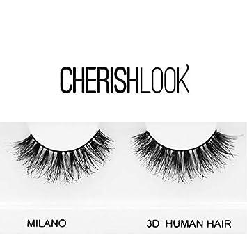 cee3f8e9aae Amazon.com : Cherishlook 3D Human Hair Eyelashes - 5packs (MILANO) : Beauty