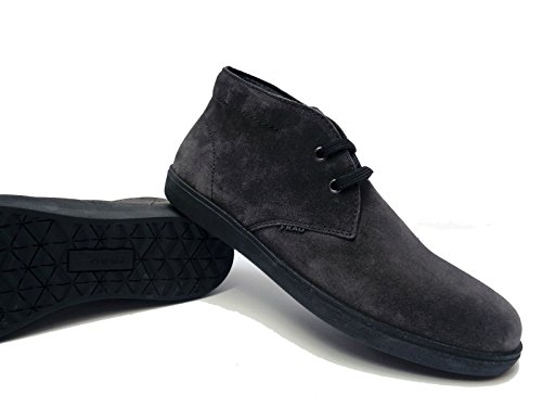 Frau 19B5 scarpe casual da uomo in camoscio col. Lavagna (Grigio), n. 44