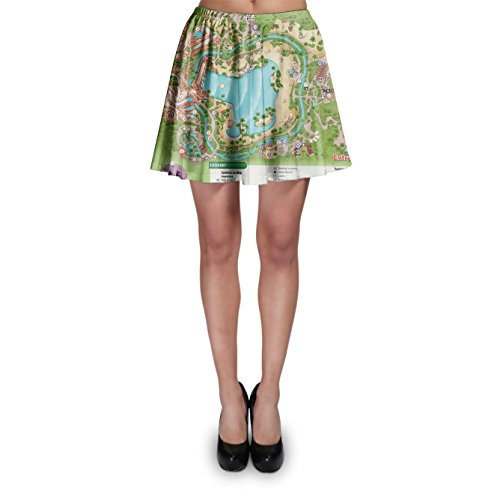 Typhoon Lagoon Map Skater Skirt Rock XS-3XL