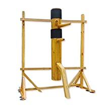 WUDETON Traditional Kung Fu Wing Chun Wooden Dummy with Framework