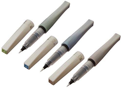 Zig Memory System Wink of Stella Brush Glitter Markers, Landscape, Green, Blue, Brown, 3-Pack (MS553V-LA)