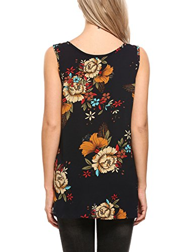Large Product Image of Zeagoo Women's Floral Print Loose Casual Flowy Tunic Tank Top