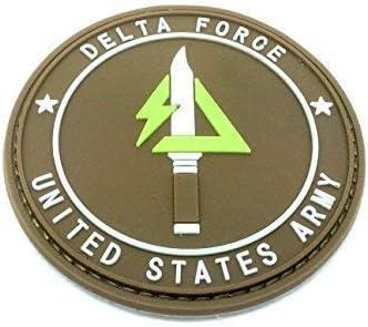 Patch Nation Delta Force ejército de los Estados Unidos Oscuro Tierra PVC Parche: Amazon.es: Deportes y aire libre