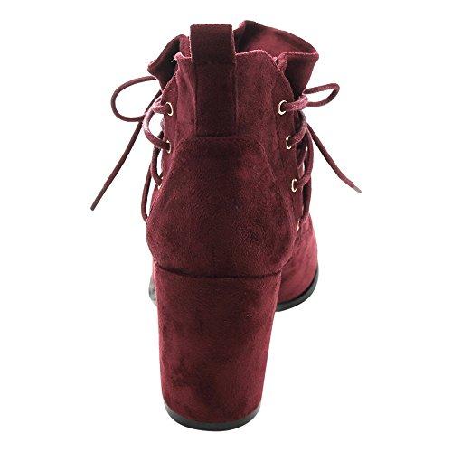 Athena Ed51 Scarpe Da Donna Con Tacco Largo E Bottoni Alla Caviglia