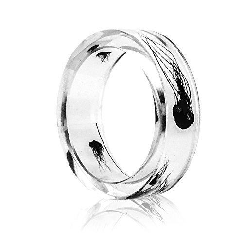 New Arrival Handmade Ocean Jellyfish Transparent Resin/Plastic Women/Men's Charm Ring - Resin Us