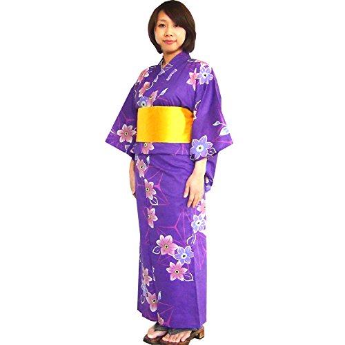 Surugajino Samueya Women's Yukata 161-1200 (Yukata Cotton)