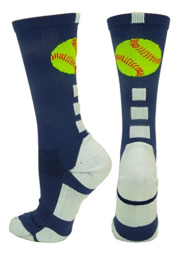 Softball Logo Crew Socks (Navy/White, - Youth Navy Blue Softball Pants