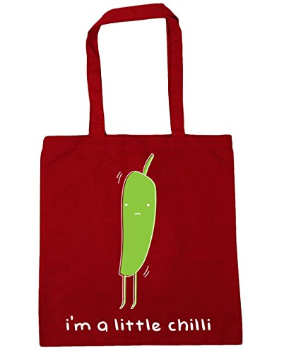 HippoWarehouse I'm A Little Chilli Tote Shopping Gym Beach Bag 42cm x38cm, 10 litres Classic Red