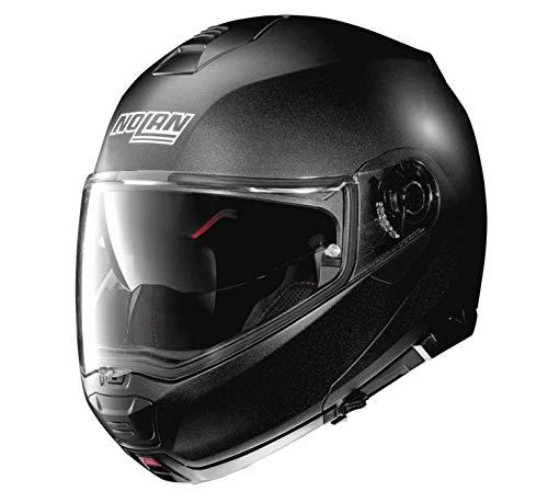 Nolan N100-5 Solid Helmet Black Graphite (Black, Medium)