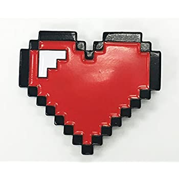 Red Heart 8 Bit Full Life Lives Gaming Enamel Lapel Pin
