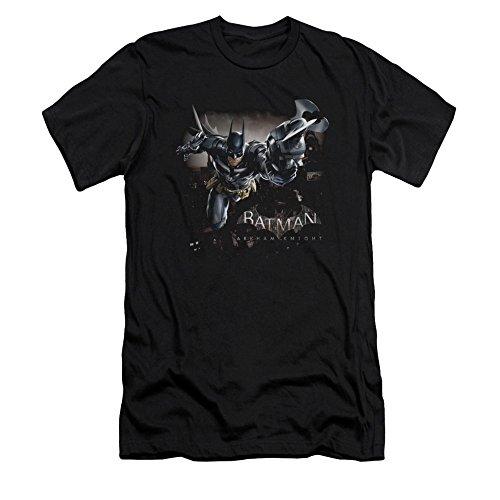 Batman: Arkham Knight Video Game W-Tech Grapnel Gun Adult Slim T-Shirt Tee