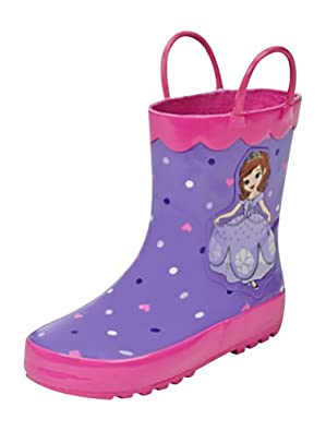 Amazon.com | Disney Store Deluxe Sofia The First Rain Boots Shoes ...