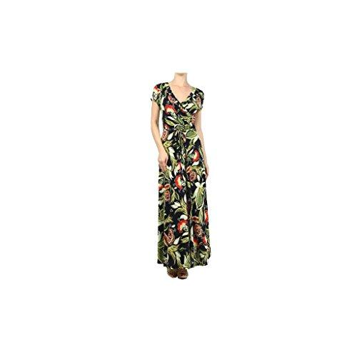 "Waooh - Fashion - floral bedruckte Kleid mit langem Hals ""Lotus"""