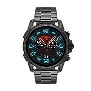 Diesel Men's 'Smartwatch' Quartz Stainless-Steel-Plated Smart Watch, Color:Grey (Model: DZT2011)