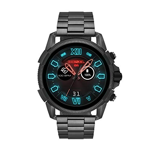 Diesel Men's 'Smartwatch' Quartz Stainless-Steel-Plated Smart Watch, Color : Grey (Model : DZT2011)